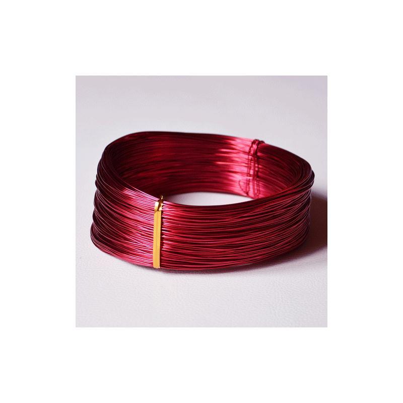 fil aluminium rouge diam tre 1 mm vendu par 2 m tres. Black Bedroom Furniture Sets. Home Design Ideas