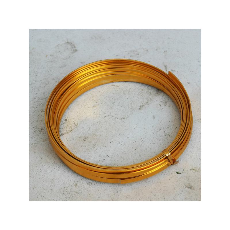 fil m tallique plat couleur gold 5 mm de large 1 mm d 39 paisseur vendu au m tre fil. Black Bedroom Furniture Sets. Home Design Ideas