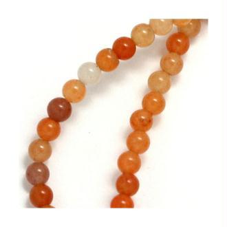 10x Perles Rondes 4mm Aventurine Peach