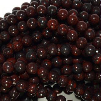 10x Perles Rondes 4mm Jaspe Brecciated