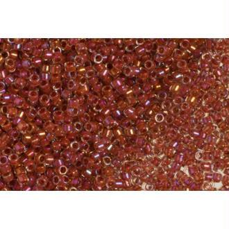 Toho Treasure 11/0 Tube 9/10gr - TT-01186 - Inside Color Luster Crystal/Terracotta