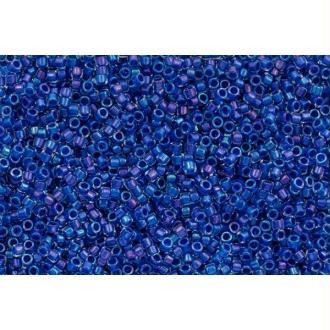 Toho Treasure 11/0 Tube 9/10gr - TT-01-189 - Inside Color Luster Crystal / Carribean BLue