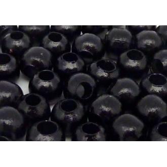 20g Environ 80 Perles Métallique Ronde Noire Pour Cordon Cuir 2,5mm
