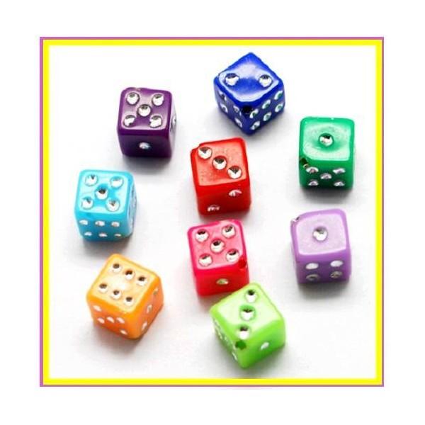 date de sortie bae74 ce657 LOT 100 cubes dés Colorés 7 mm - bijoux