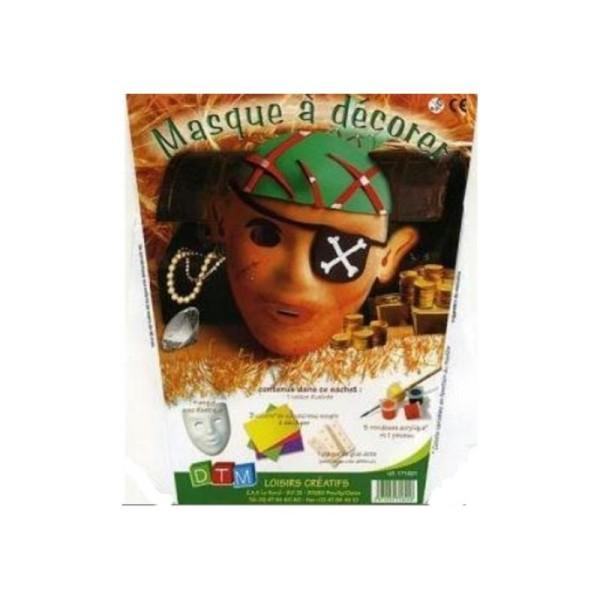 Masque pour enfant à décorer - Pirate - Photo n°1