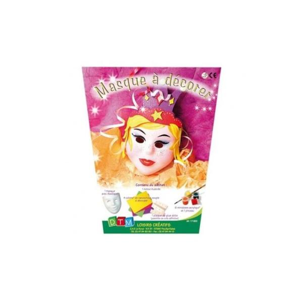 Masque pour enfant à décorer - Princesse - Photo n°1