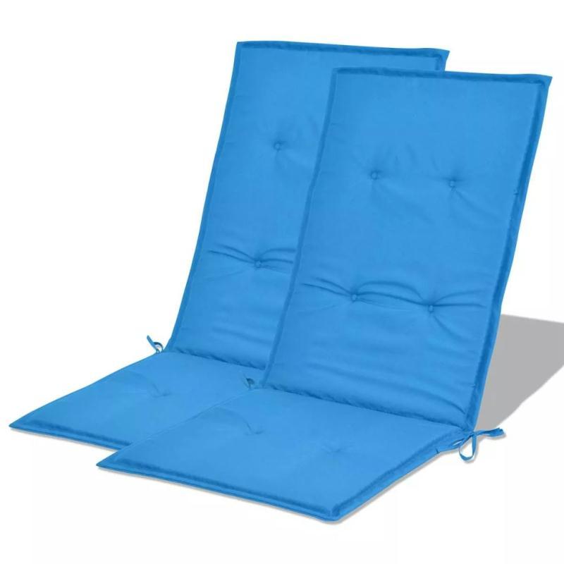 Vidaxl coussin de chaise de jardin 2 pcs bleu 120 x 50 x 3 for Coussin pour canape
