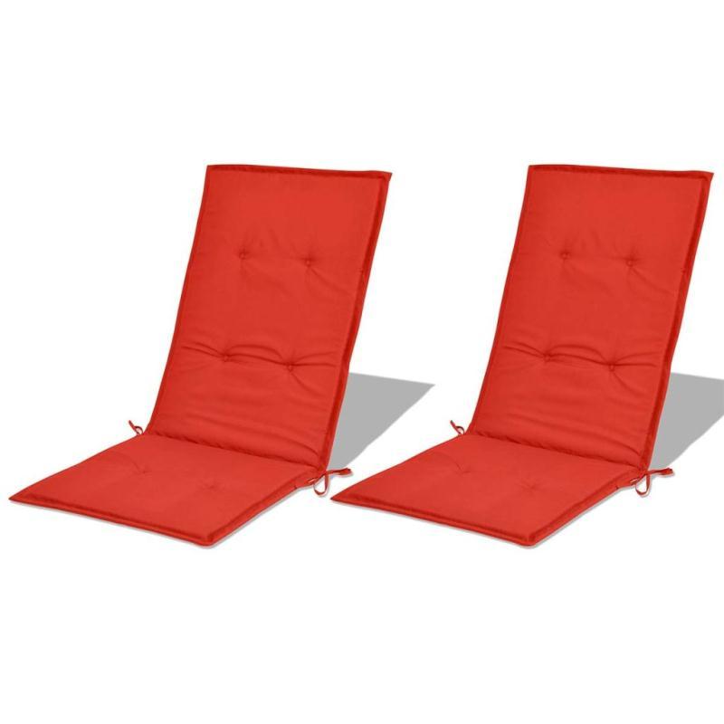 Vidaxl coussin de chaise de jardin 2 pcs rouge 120 x 50 x for Coussin pour canape