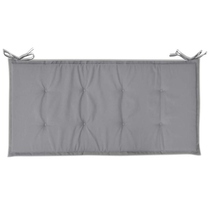 Vidaxl coussin du banc de jardin gris 100 x 50 x 3 cm for Coussin chauffant pour chat exterieur