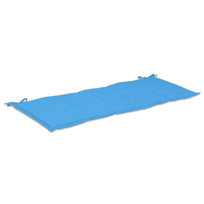 Vidaxl coussin de banc de jardin bleu 120 x 50 x 3 cm for Banc exterieur design