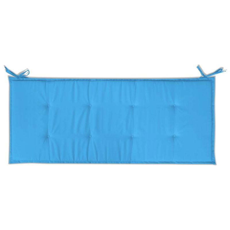Vidaxl coussin de banc de jardin bleu 120 x 50 x 3 cm for Coussin pouf exterieur