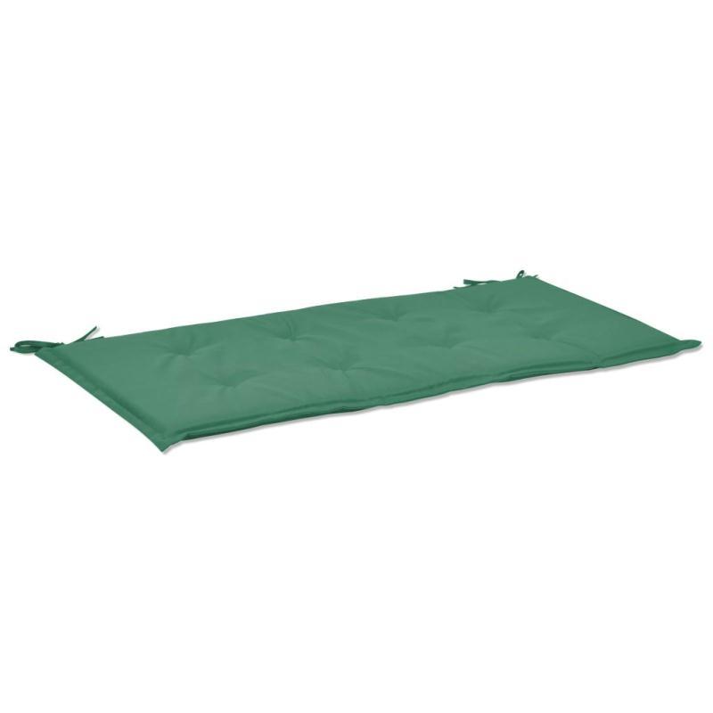 Vidaxl coussin de banc de jardin vert 100 x 50 x 3 cm for Coussin pouf exterieur
