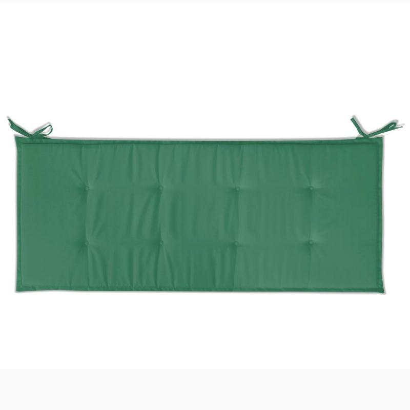 Vidaxl coussin de banc de jardin vert 120 x 50 x 3 cm for Banc jardin plastique
