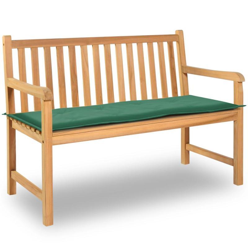 Vidaxl coussin de banc de jardin vert 120 x 50 x 3 cm for Coussin pouf exterieur