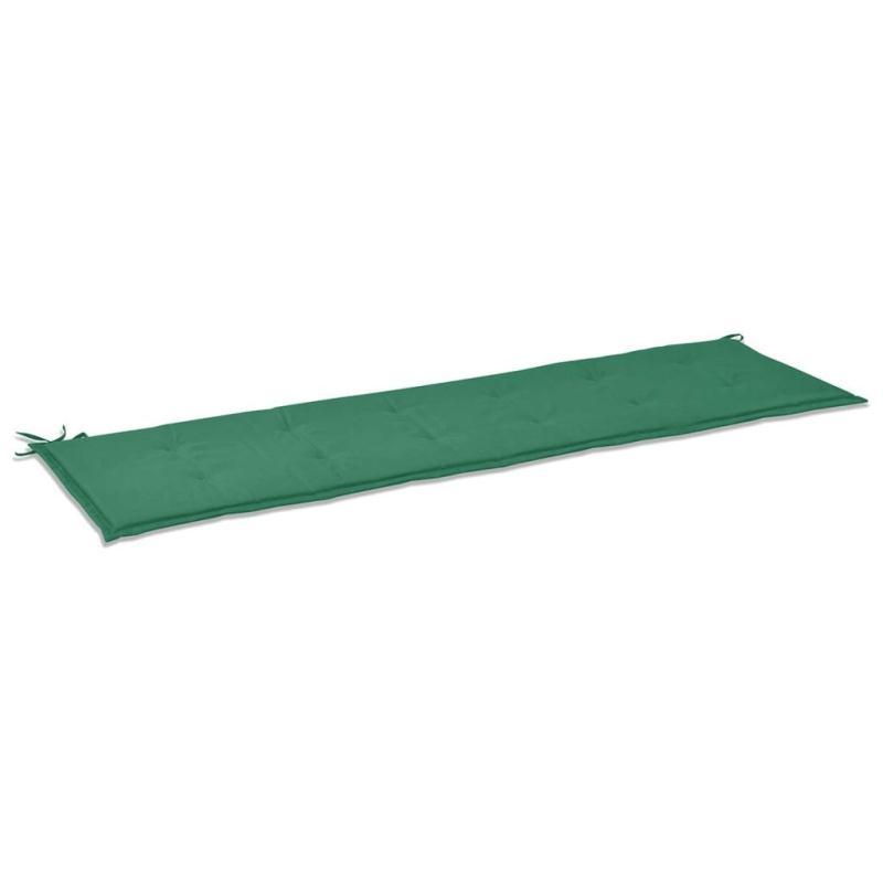 Vidaxl coussin de banc de jardin vert 180 x 50 x 3 cm for Coussin pouf exterieur