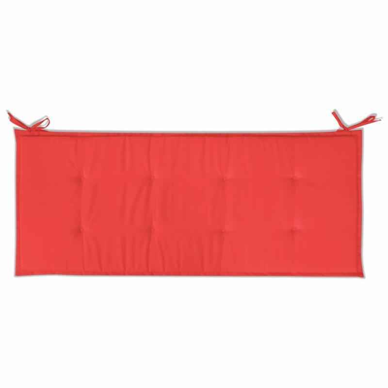 Vidaxl coussin de banc de jardin rouge 120 x 50 x 3 cm for Banc exterieur design