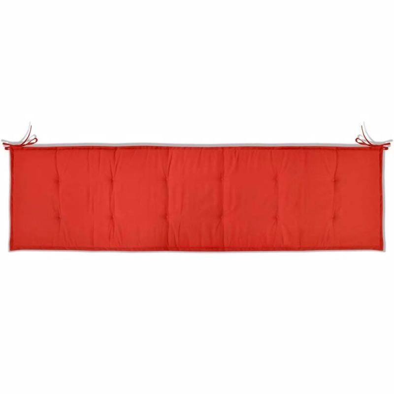 Vidaxl coussin de banc de jardin rouge 180 x 50 x 3 cm for Banc exterieur design