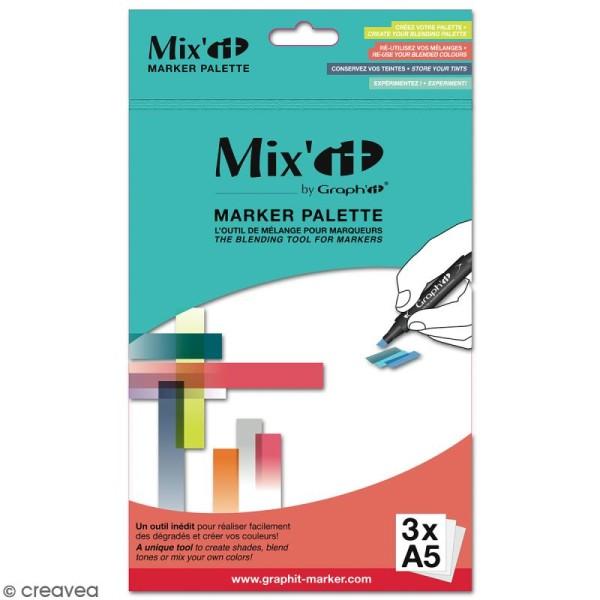 Palette de mélange pour marqueur à alcool Mix'it x 3 - Photo n°1