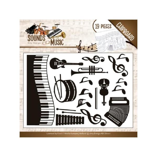 Chipboard forme bois Amy Design - Instruments de musique - Photo n°1
