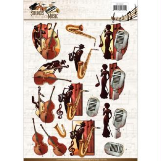 Feuille 3D à découper A4 de Amy Design - Jazz