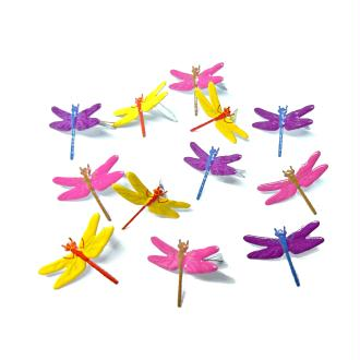 12 Brads libellules 20 mm attaches parisiennes scrapbooking