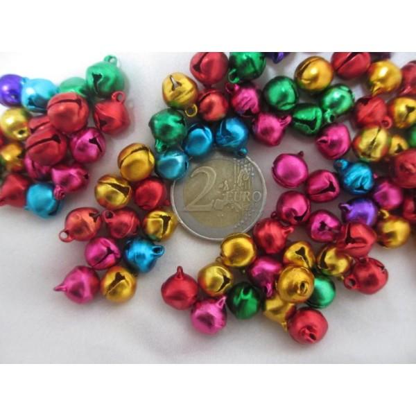 Grelots mixe couleurs 11*10,5*8mm,50 pièces pour breloques - Photo n°2