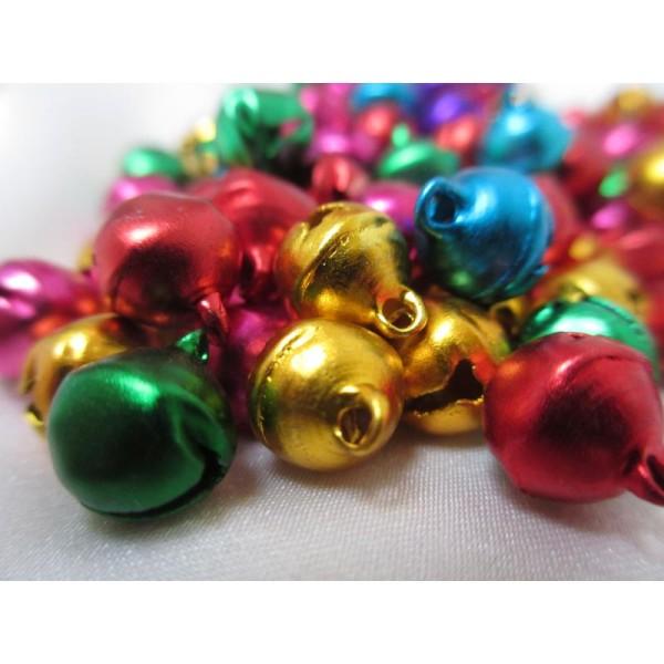 Grelots mixe couleurs 11*10,5*8mm,50 pièces pour breloques - Photo n°3