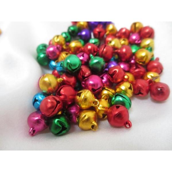 Grelots mixe couleurs 11*10,5*8mm,50 pièces pour breloques - Photo n°1