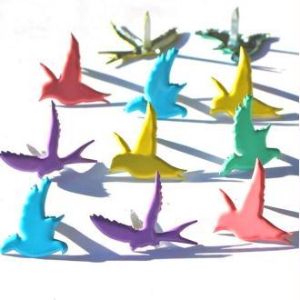 8 Attaches parisiennes oiseaux brads scrapbooking