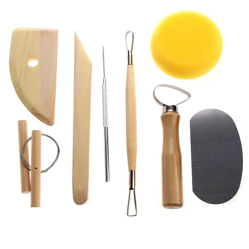 Set de 8 outils de modelage et de poterie accessoires en for Appui de fenetre en terre cuite
