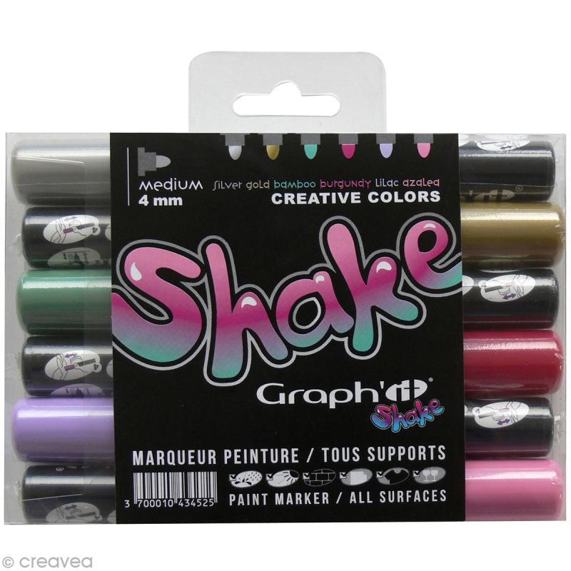 Graph'it shake 4 mm - Set Créatif x 6 - Photo n°1