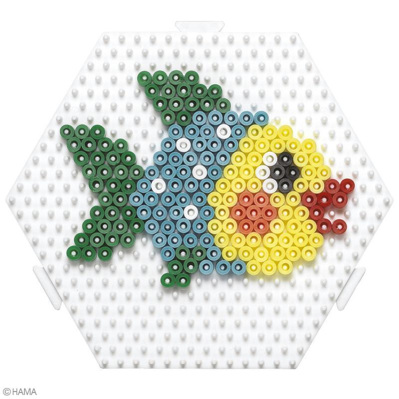 Plaque Hexagonale pour perles Hama Midi moyen modèle - 12,5 x 11 cm - Photo n°2