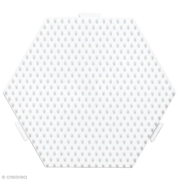 Plaque Hexagonale pour perles Hama Midi moyen modèle - 12,5 x 11 cm - Photo n°1