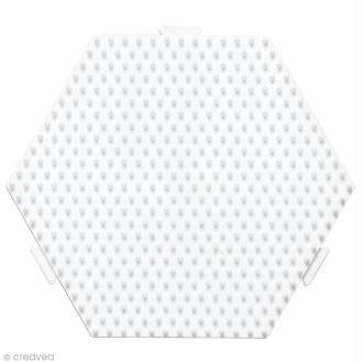 Plaque Hexagonale pour perles Hama Midi moyen modèle - 12,5 x 11 cm
