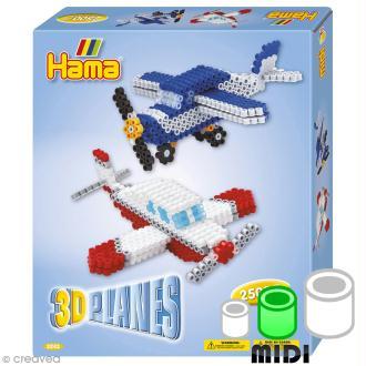 Kit Perles Hama Midi - 3D Avions  - 2500 perles