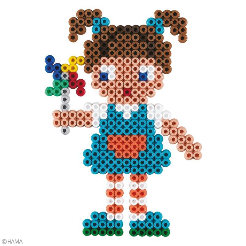 Kit Perles Hama Midi - Poupées - 2500 perles - Photo n°2