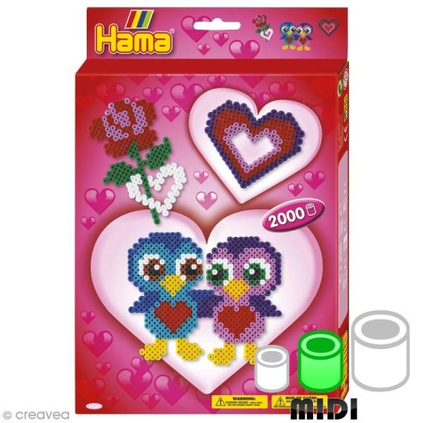 Perles Hama Midi - Coffret Love - 2000 perles - Photo n°1