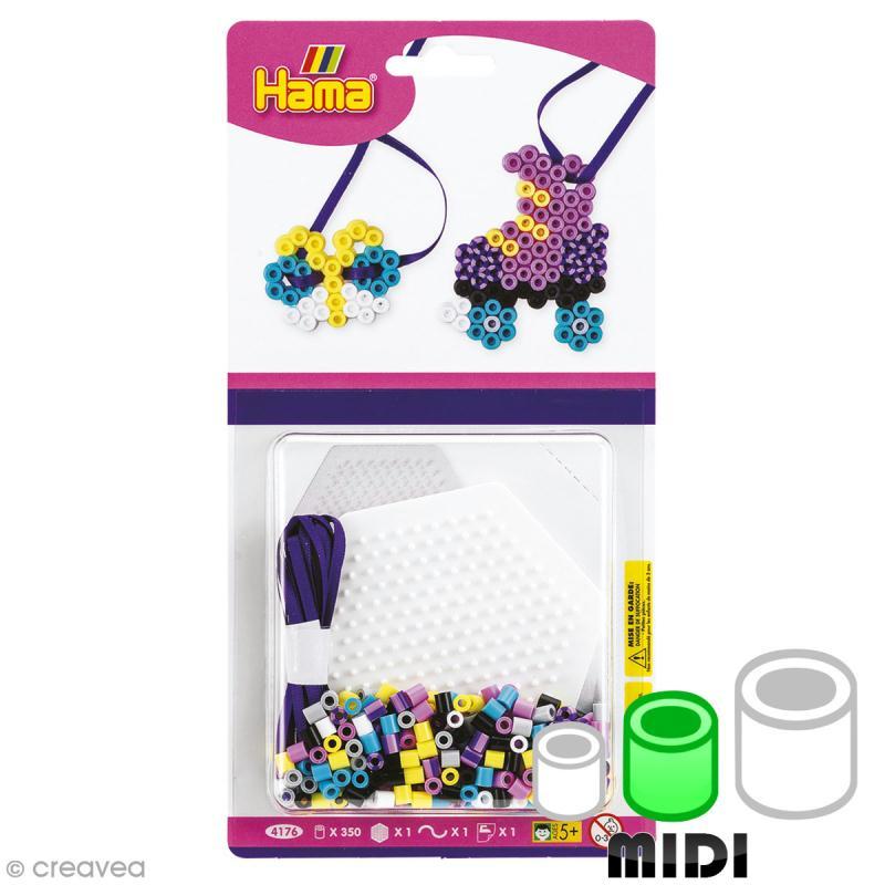 Mini kit Perles Hama Midi - Papillon et patin à roulettes - 350 perles - Photo n°1