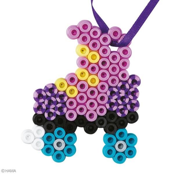 Mini kit Perles Hama Midi - Papillon et patin à roulettes - 350 perles - Photo n°2
