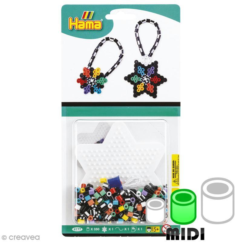 Mini kit Perles Hama Midi - Etoiles - 350 perles - Photo n°1