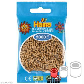 Perles Hama mini diam. 2,5 mm - Café frappé - 2000 perles