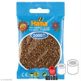 Perles Hama mini diam. 2,5 mm - Marron glacé - 2000 perles
