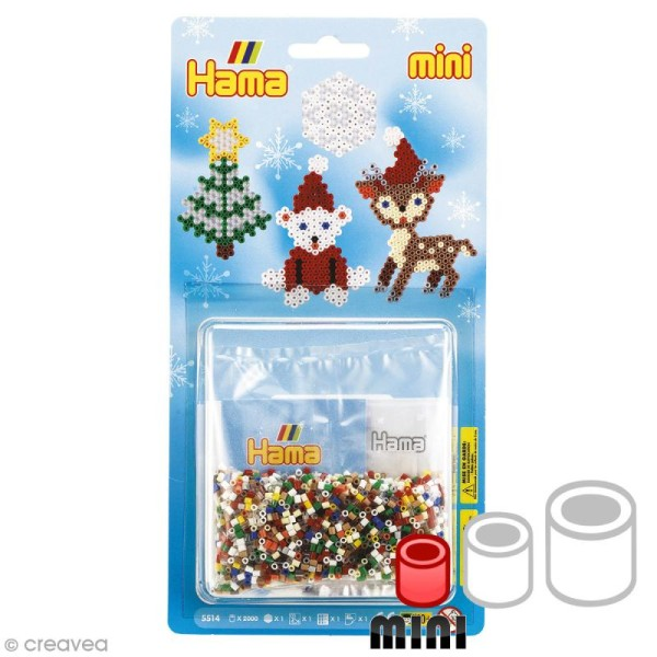 Mini kit Perles Hama Mini - Noël 2 - 2000 perles - Photo n°1