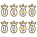 Trombones Ananas Dorés - 2 x 3 cm - 8 pcs - Photo n°2