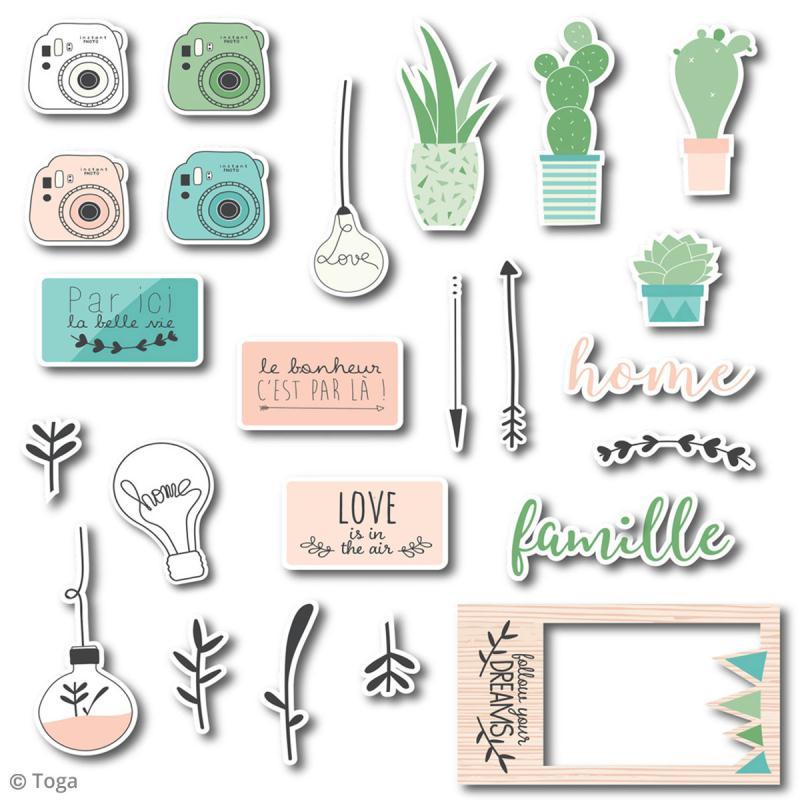 Chipboard Carton - Enjoy the Little Things - 24 pcs - Photo n°2