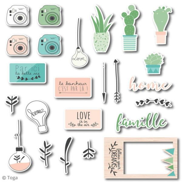Chipboard Carton - Enjoy the Little Things - 24 pcs - Photo n°2