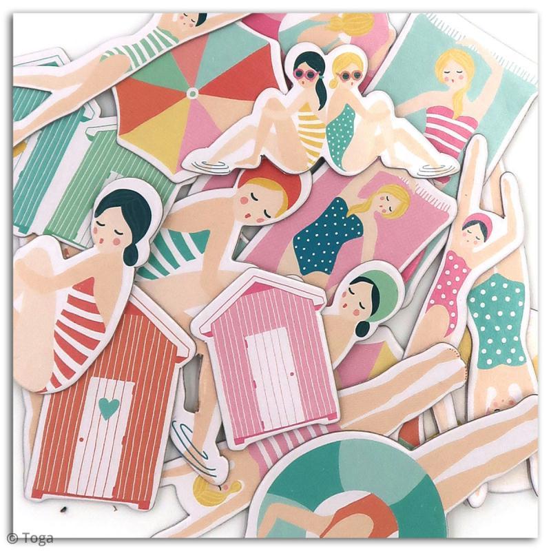 Chipboard Carton - Baigneuses - 20 pcs - Photo n°2