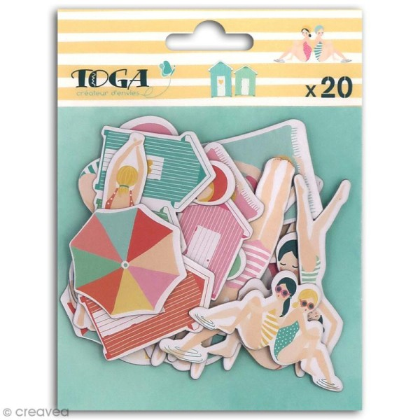 Chipboard Carton - Baigneuses - 20 pcs - Photo n°1
