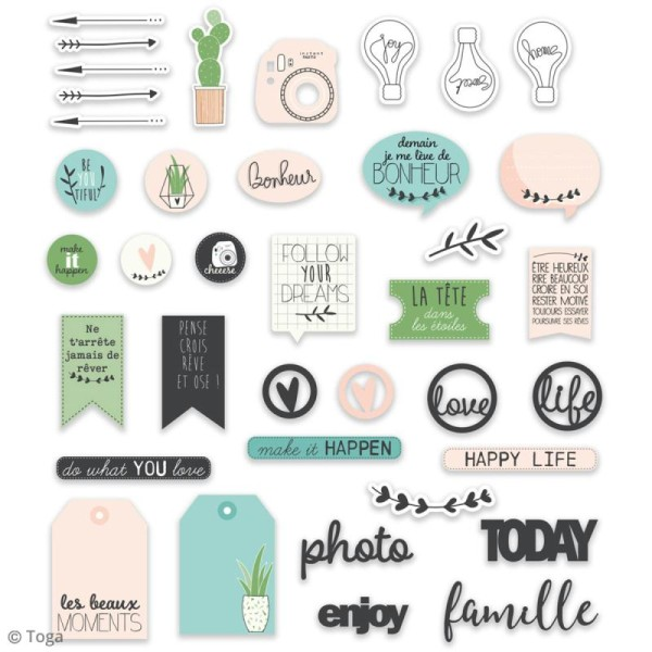 Die cut Toga - Enjoy the Little Things - 38 pcs - Photo n°2