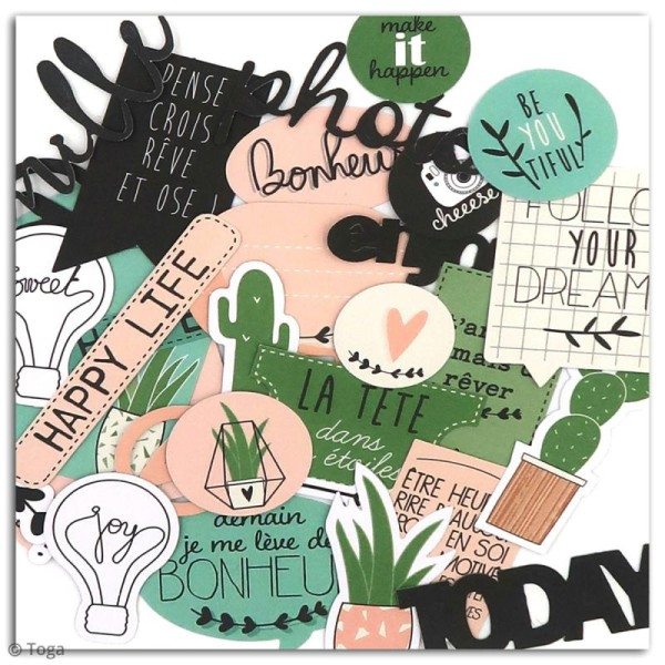 Die cut Toga - Enjoy the Little Things - 38 pcs - Photo n°3